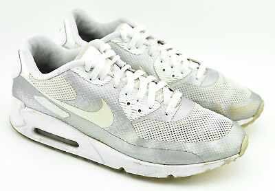 the best attitude 1f6d3 dc3f3 Mens Nike Air Max 90 Hyperfuse Id Running Shoes Size 11 White Silver
