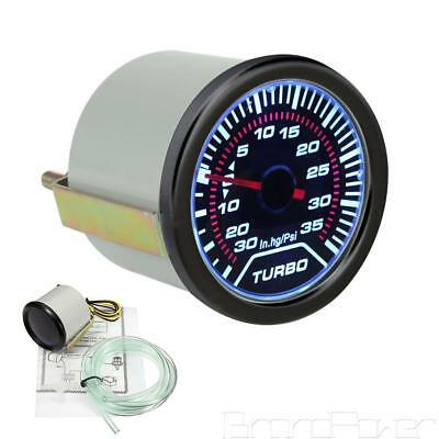 2″ LED Car Turbo Boost Pressure Gauge Meter Smoked Dials 12V 52mm