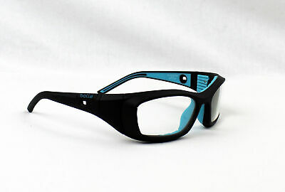 Bolle Home Run 12408 Black and Blue Sports Protective Glasses Clear Lens