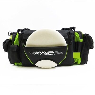(Lime Green) - MVP Nucleus Tournament Disc Golf Bag. MVP Disc Sports