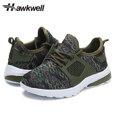 Hawkwell Kids Lace-up Athletic Sneakers Running Shoes Boys Girls Khaki Outdoor