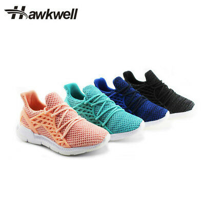 Hawkwell Outdoor Kids Fashion Sports Lace-up Shoes boys girls Black Breathable