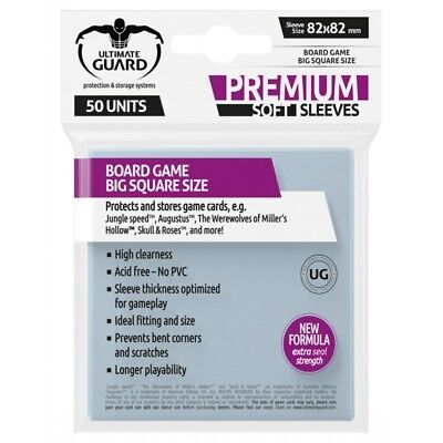 ULTIMATE GUARD Premium Standard American Board Game Card Sleeves 59x91.5mm 60ct