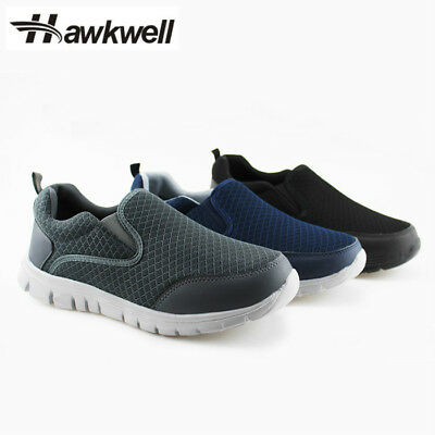 Hawkwell Men's Slip-On Loafer Performance Sport Sneakers Walking Shoes Mesh