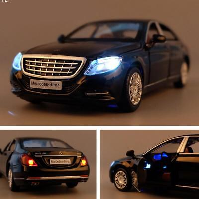 1:32 Mercedes-Benz S600 Alloy Diecast Car Model Pull Back Kids Toy + Light&Sound
