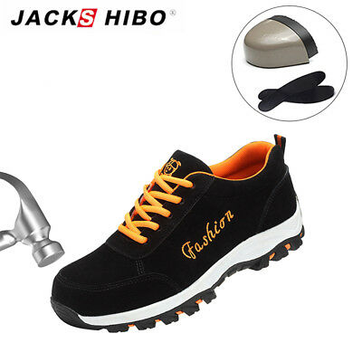 JACKSHIBO Womens Work Outdoor Safety Hiking Shoes Steel Toe Casual Sneakers