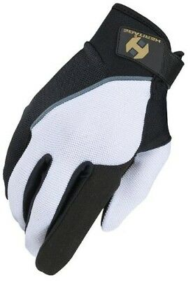 (Size 11, White/Black) - Heritage Competition Glove. Huge Saving