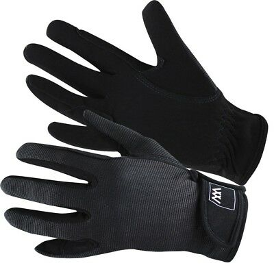 (Size 7.5, Black) - Woof Wear Grand Prix Riding Glove. Delivery is Free