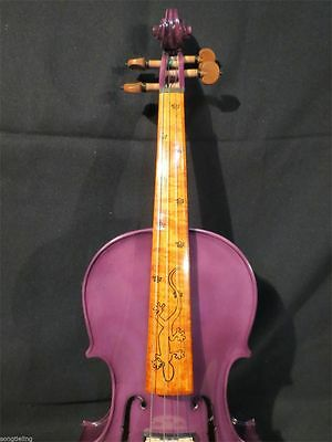 Beautiful Purple color best model 4/4 electric violin +Acoustic violin #8178