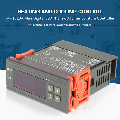 Digital LCD Temperature Controller Thermostat MH1210A -40~120℃ with Sensor Probe