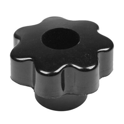 M8 50mm Dia Thread Black Plastic Star Head Clamping Knob Grip H1L9