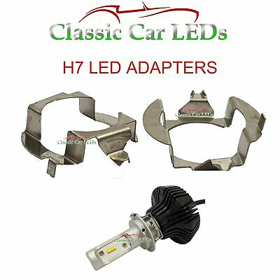 2 x H7 LED Scheinwerferlampe Adapter Halter Mercedes E VW SKODA SUPERB