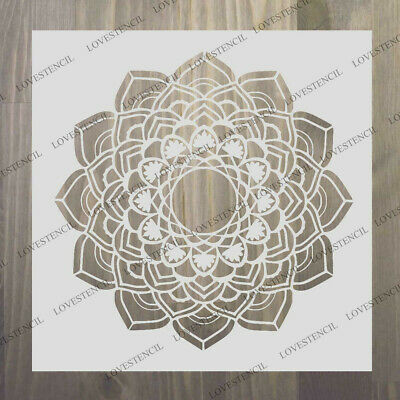mandala joy stencil craft,fabric,furniture,glass,wall art up to 23/""