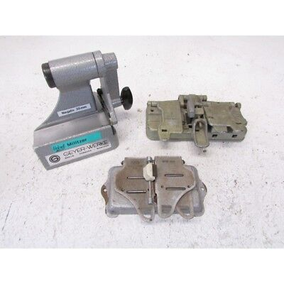 Lot with 3 tape cutting devices from Geyer-Werke, Siemens and Ising