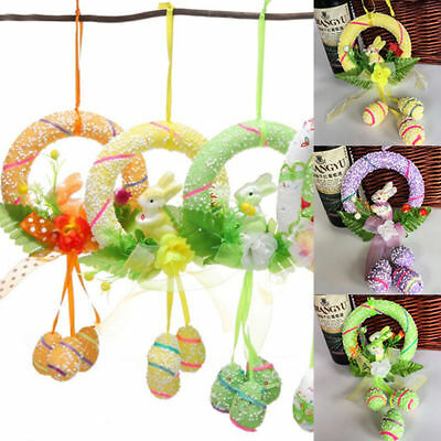 Easter Spring Bunny Party Decor Eggs Egg Rabbit Hanging Ornament Decorations Hot