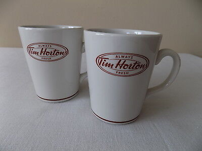 Lot Of Two NEW Tim Hortons steelite Made In England 2011 Restaurant Coffee Mugs
