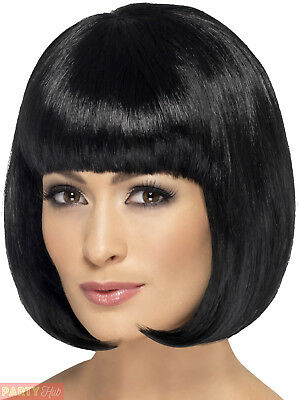 Ladies Short Bob Wig Adults Partyrama Fancy Dress Accessory Womens Hair Fringe