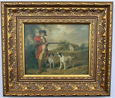 Hunting / Shooting Framed Oleograph R586#E Reproduction Picture , Art .