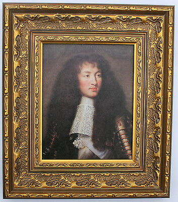 King Louis XIV of France Framed Oleograph   - Reproduction Picture