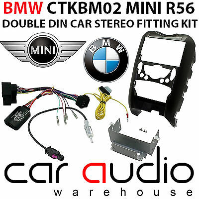 BMW Mini R56 Car Radio Single Din & Double Din Fascia Steering Wheel Interface