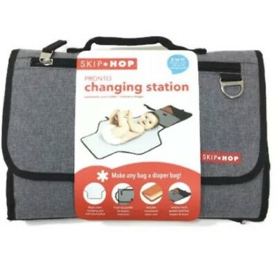 Skip Hop Baby Pronto Portable Changing Station Mat Heather Grey 2 in 1 Clutch