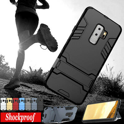 Shockproof Hybrid Case Armor Rugged Kickstand Cover For Samsung A8+ 2018 S9+