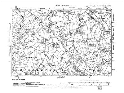 Middleton on the Hill, Old Map Herefordshire, 1904: 8SW