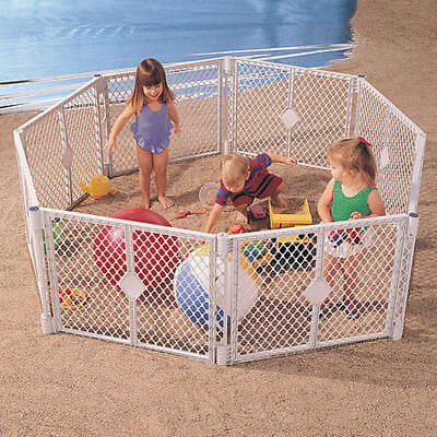 Superyard Extension Play Yard Gate Baby Area Cage For Girl Boy Kit Pin Dog NEW