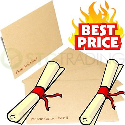 Please Do Not Bend C4/c5 Hard Card Board Backed Envelopes Brown Manilla Mailers