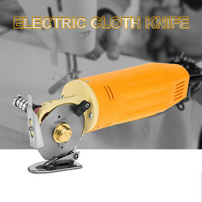 70mm Blade Electric Cloth Cutter Fabric Round Knife Cutting Machine for Shoes