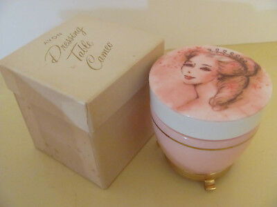 Vintage Avon Dressing Table Cameo Creme Sachet To A Wild Rose with Box