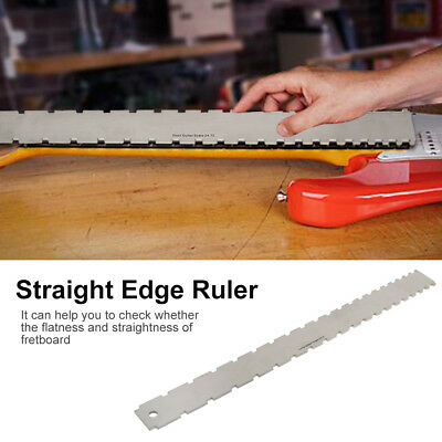 Guitar Neck Notched Straight Edge Ruler and String Action Height Gauge Tools Set