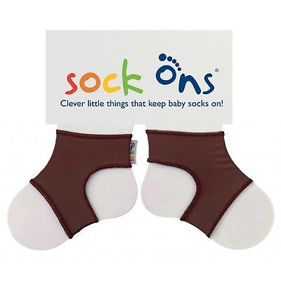 Sock Ons Sockenhalter Babysocken Small 0-6m brown TOP