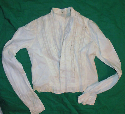 Antique 1900s Ladies Or Girls Blouse Shirt Period Clothing Vintage