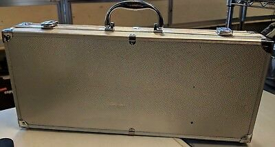 Hard Shell Protective Aluminum Carrying Case W Felt Liner