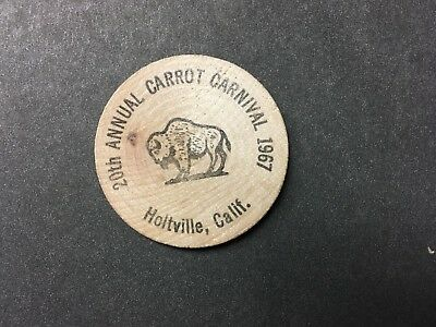 Be Lo Ce Coin Club 20Th Annual Carrot Carnival 1967 Holtville Ca Wooden Nickel
