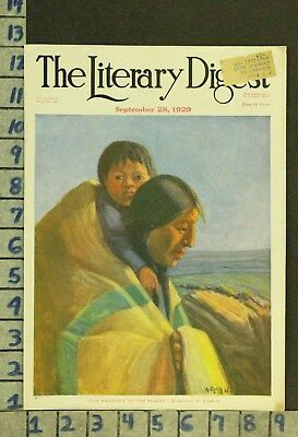 1929 Western American Indian Culture Ethnic Family Illus Leighton Cover Zq74