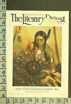 1927 Western American Indian Culture Tribe Chief Art Illus Leighton Cover Zq69