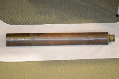 Early-Mid 19th C. Dollond Single Draw Naval Telescope Leather Bound Authentic