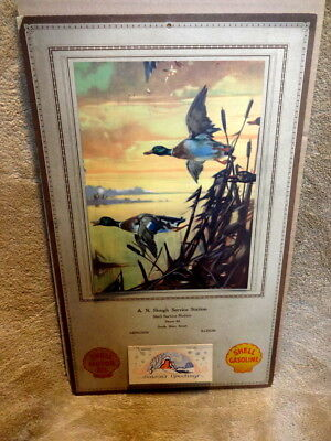 Dated 1930 Shell Oil Company Advertising Calendar With Hindermeister Art Work