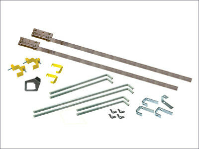 Faithfull 2m External Wall Corner Building Builders Profiles PAIR + Fitting Kit