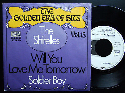 The Shirelles - Will You Love Me Tomorrow / Soldier Boy PROMO, Musterplatte