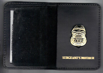 Badge Not Included New York//New Jersey Police-Style-Sergeant Snap Wallet