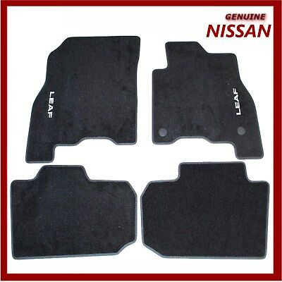 Genuine Nissan Leaf 2018 EV Velour Carpet Floor Mats. KE7555S001 New!