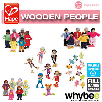 HAPE Happy Family People Full Range of Wooden Dolls House Families Children 3yr+