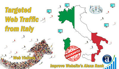 25000 Italian Visitors From Italy Real Targeted GEO Traffic For SEO