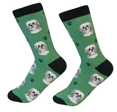 Shih Tzu Socks Unisex Tan Puppy Cut