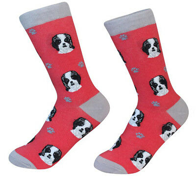 Shih Tzu Socks Unisex Black/White