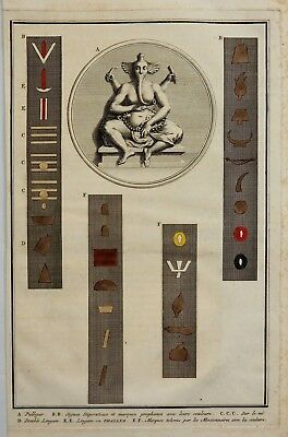 "Picart's ""Religious Customs""- PULLEYAR GANESHA DEITY - H/Col. Engraving - 1733"