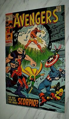 Avengers #72 NM/MT 9.8 OW/W pages Unrestored 1970 Marvel 1st Zodiac